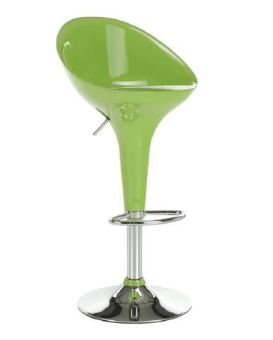 Barová stolička zelená/chróm ALBA NOVA