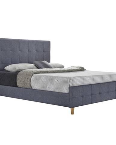 Manželská posteľ sivá 180x200 BALDER NEW