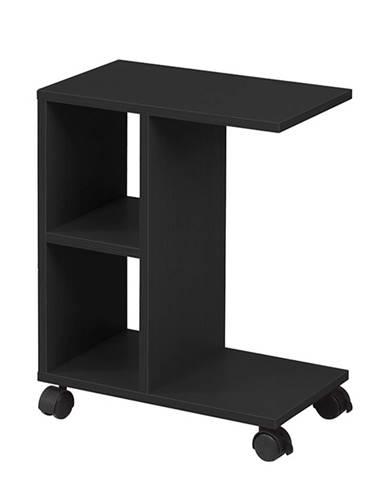 Príručný stolík čierna ABBAS NEW