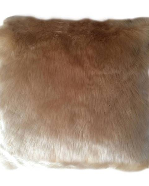 Kondela Vankúš imitácia ovčej kožušiny béžová 45x45 ROSALINE