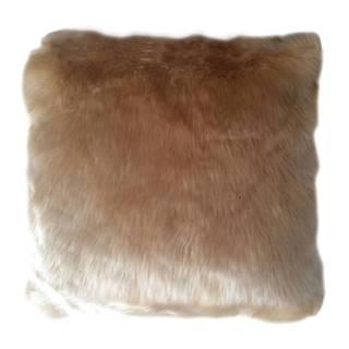 Vankúš imitácia ovčej kožušiny béžová 45x45 ROSALINE