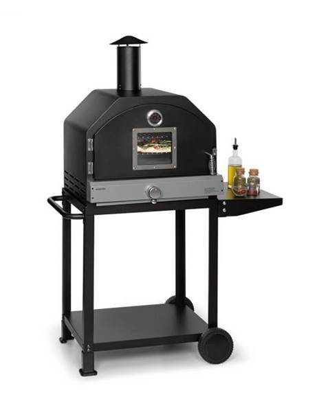 Klarstein Klarstein Pizzaiolo Pro, plynový gril na pizzu, 76x143x66cm, šamotový kameň, oceľ, prenosný