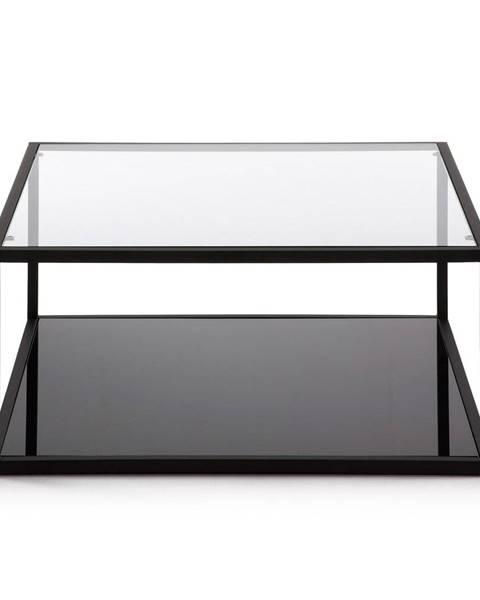 La Forma Čierny konferenčný stolík La Forma Green Hill, 80 x 80 cm