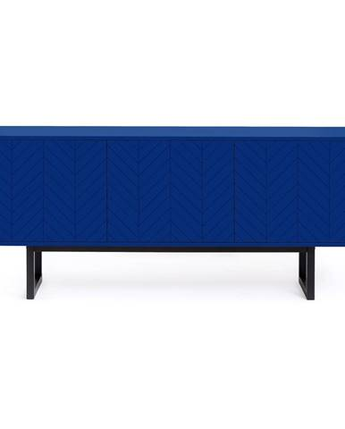 Modrá komoda Woodman Camden Herringbone, 175x75cm