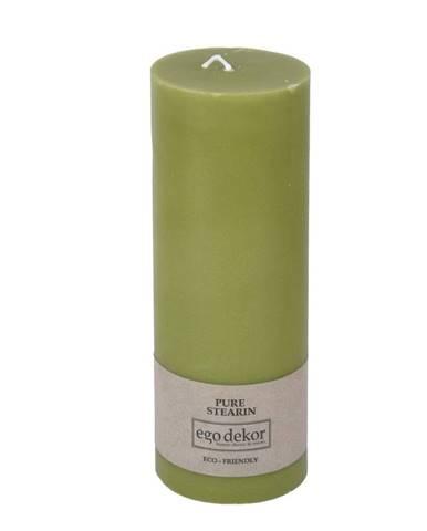Zelená sviečka Eco candles by Ego dekor Friendly, doba horenia 60 h