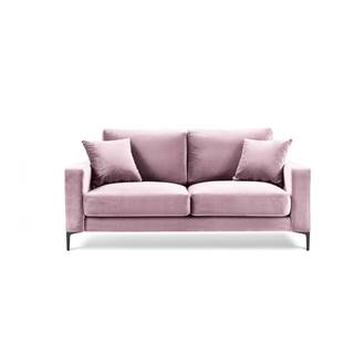 Ružová zamatová pohovka Kooko Home Harmony, 158 cm