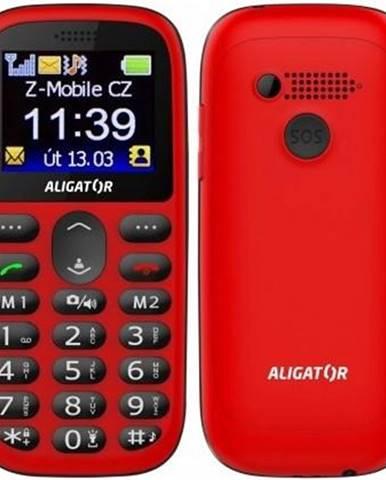Mobilný telefón Aligator A510 Senior čierny/červený