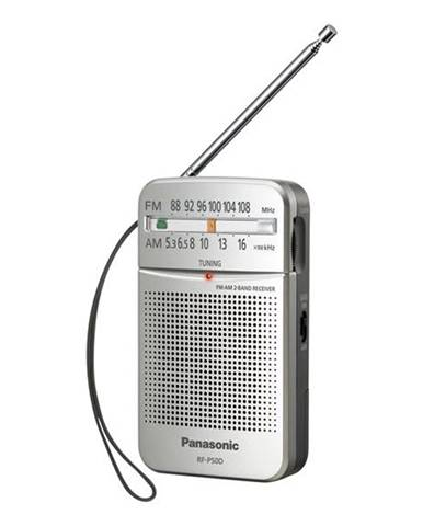 Rádioprijímač Panasonic RF-P50deg-S strieborný