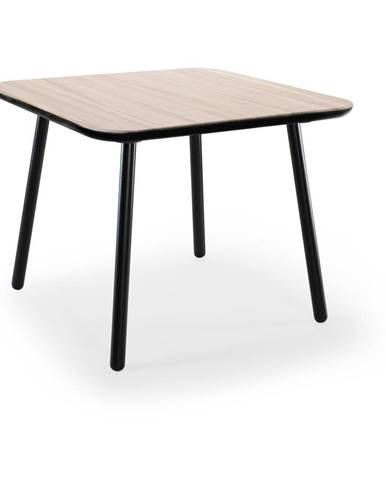 Jedálenský stôl z jaseňového dreva s čiernymi nohami EMKO Naïve