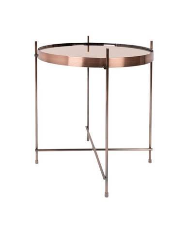 Príručný stolík v medenej farbe Zuiver Cupid, ø43cm
