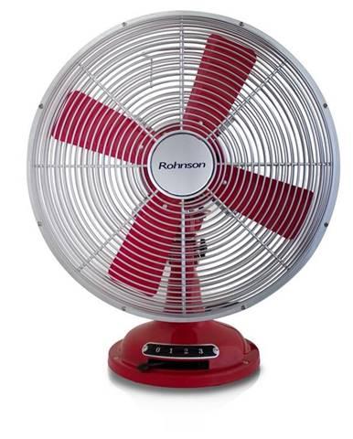 Ventilátor stolový Rohnson R-866 červený/kovov