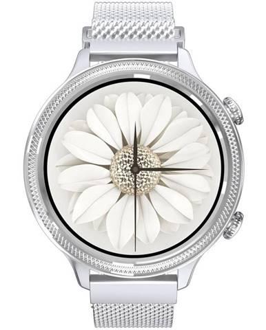 Inteligentné hodinky Carneo Gear+ Deluxe strieborné