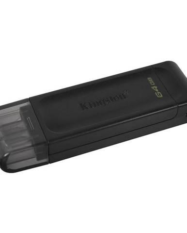 USB flash disk Kingston DataTraveler 70 64GB, USB-C čierny