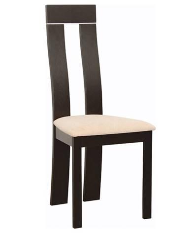 Drevená stolička wenge/látka béžová magnólia DESI NEW