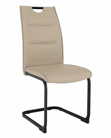 Jedálenská stolička svetlohnedá/čierna MEKTONA rozbalený tovar