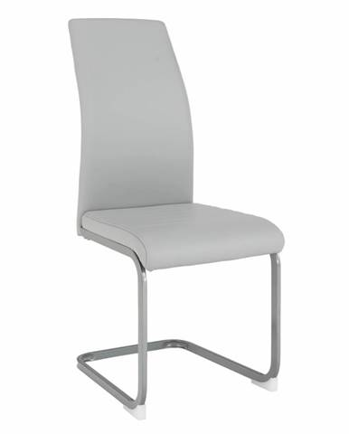 Jedálenská stolička svetlosivá/sivá NOBATA rozbalený tovar
