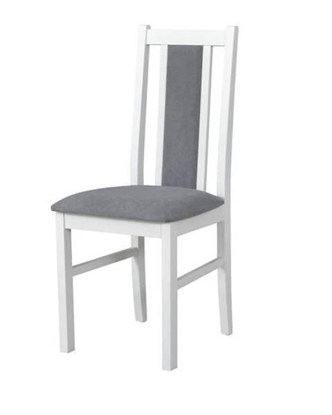 Sconto Jedálenská stolička BOLS 14 sivá/biela