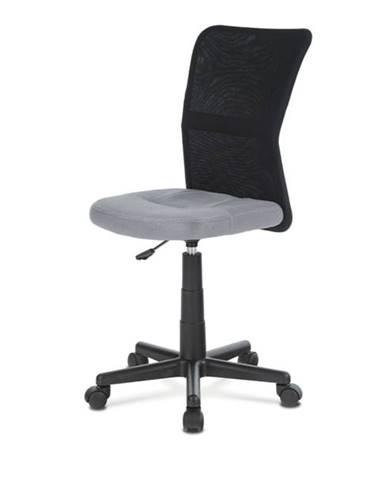 Kancelárska stolička BAMBI sivá/čierna