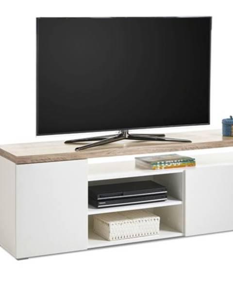 Sconto TV stolík VIEW 7 dub sonoma/biela