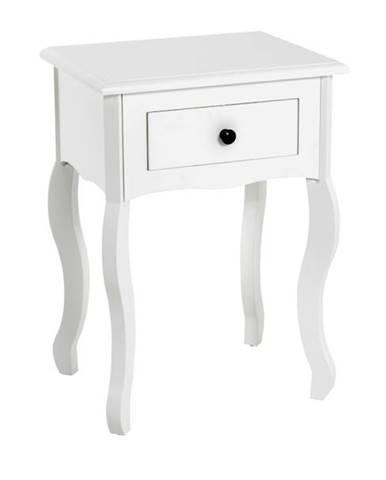 Nočný stolík KAMILA 1 biela