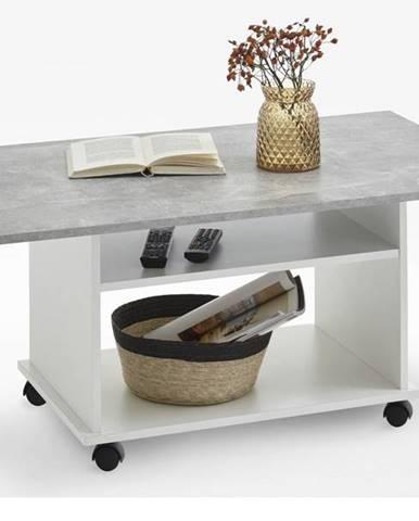 Konferenčný stolík AZUR biela/betón