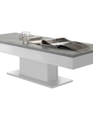 Konferenčný stolík GRANNY 120 DUB biela matná/betón