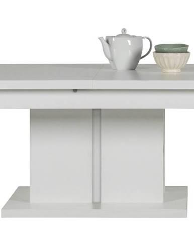 Konferenčný stolík IVONA biela, rozkladací 114-144 cm