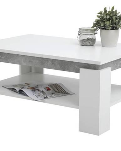 Konferenčný stolík TIM II biela/betón