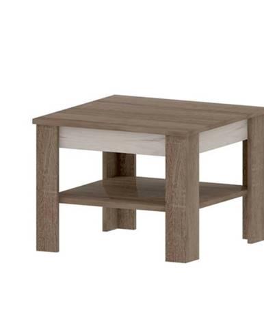 Konferenčný stolík VALENCIA VN3 dub truffel/dub craft biely