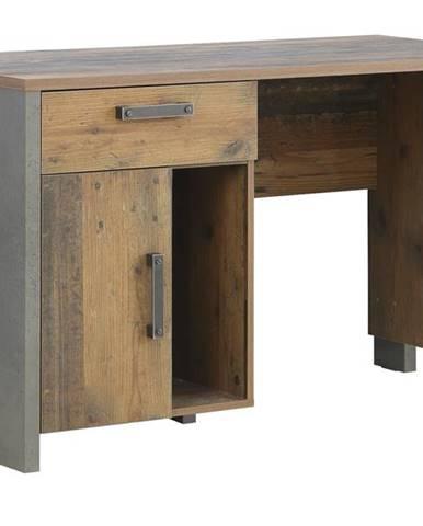 Písací stôl CLIF staré drevo/betón