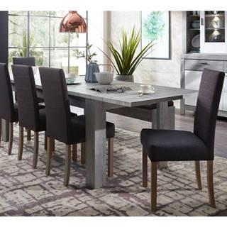 Jedálenský stôl PORTO dub/betón
