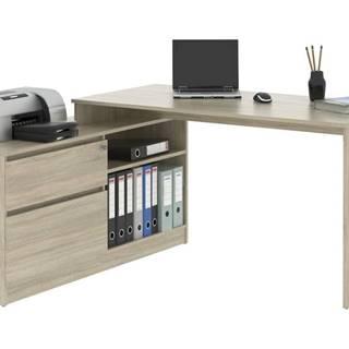 Rohový písací stôl MONOBLOK 1 dub sonoma