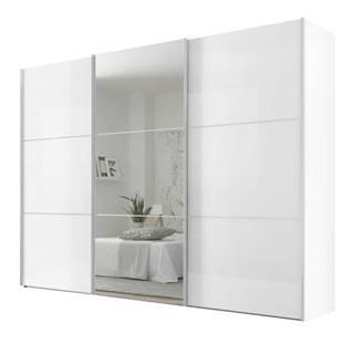 Šatníková skriňa ENSENSO biela/zrkadlo