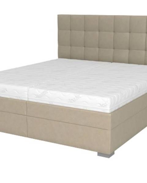 Sconto Posteľ DANA béžová, 180x210 cm, s matracom