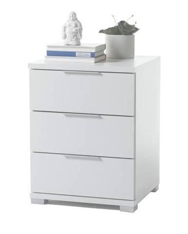 Nočný stolík KORON 3 biela
