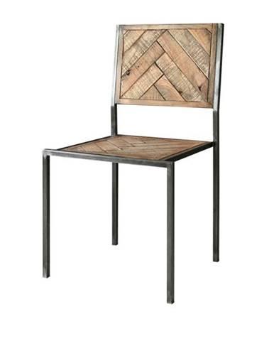 Jedálenská stolička PARQUET prírodná akácia/sivá