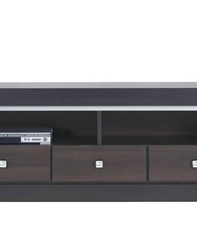 TV stolík MALLORCA FR2 orech tmavý/dub milano