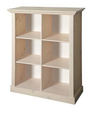 Regál/knižnica MONACO 144 borovica biela